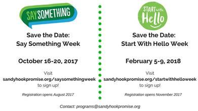 Sandy Hook Promise's 2nd annual Say Something Week